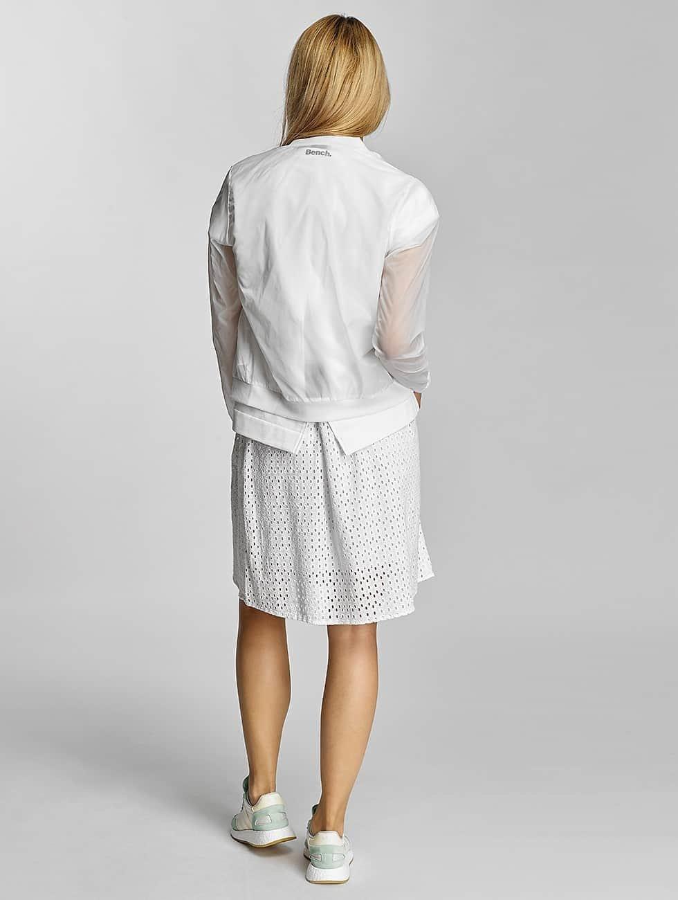 Bench Skirt Cotton Crochet white