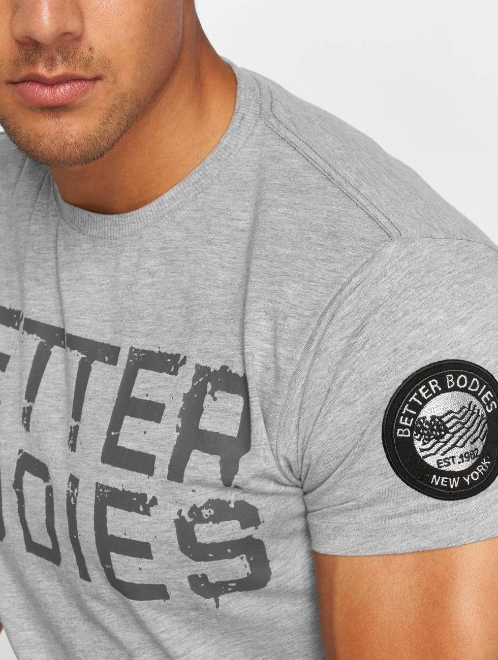 Better Bodies T-Shirty Basic Logo szary