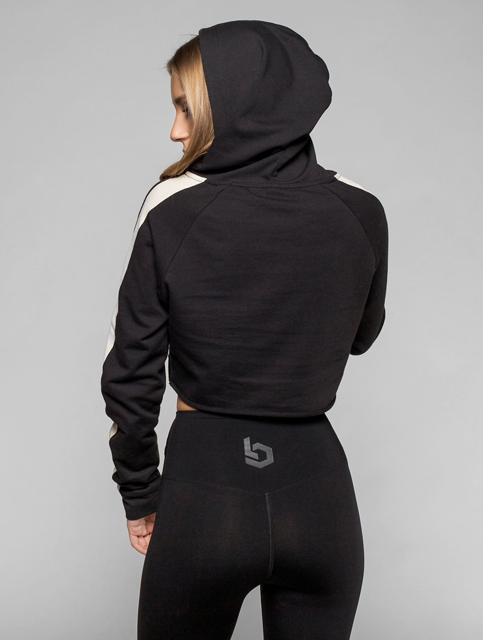 Beyond Limits Hoodie Raw Cut black