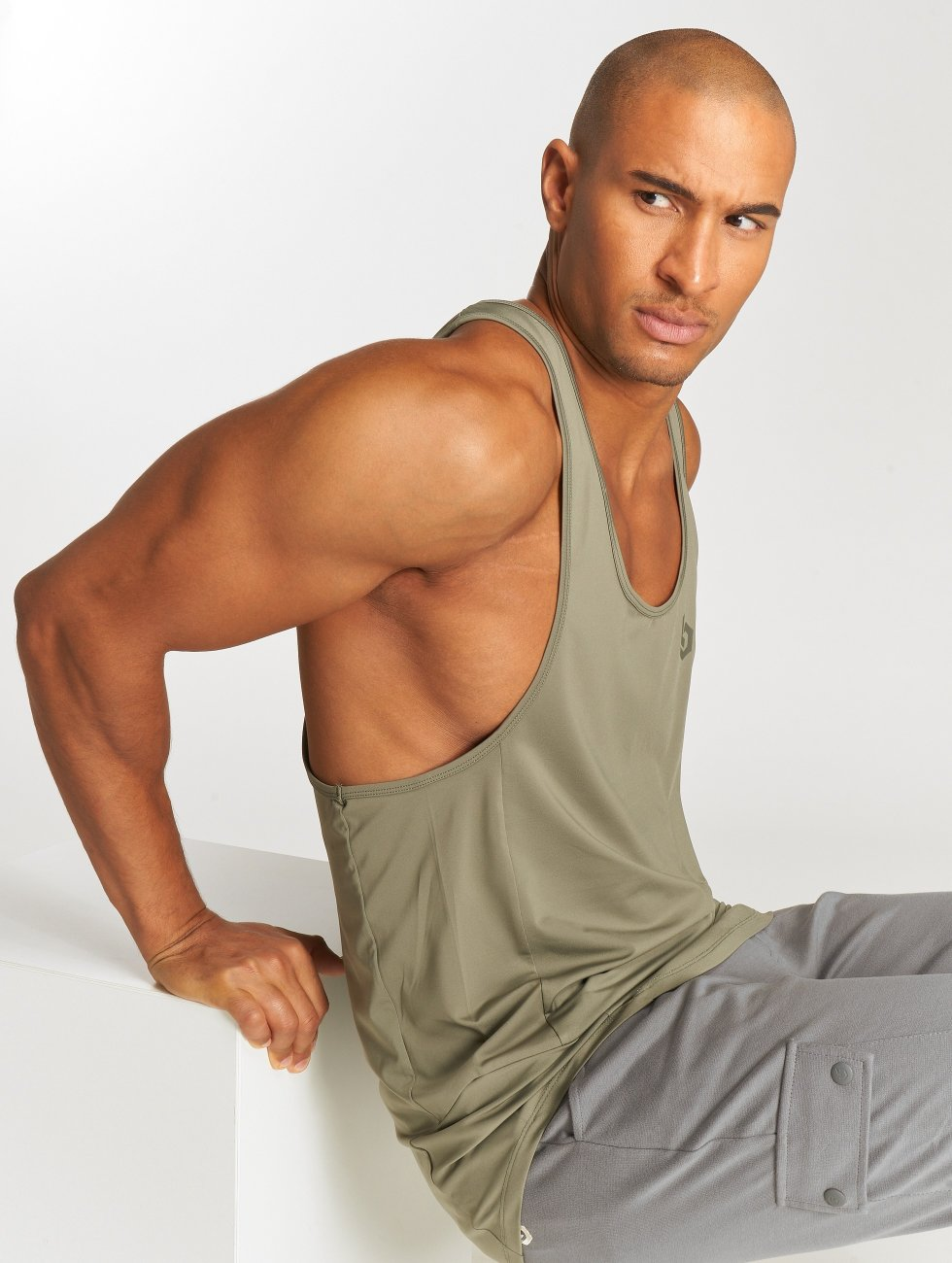Beyond Limits Tank Tops Basic khaki
