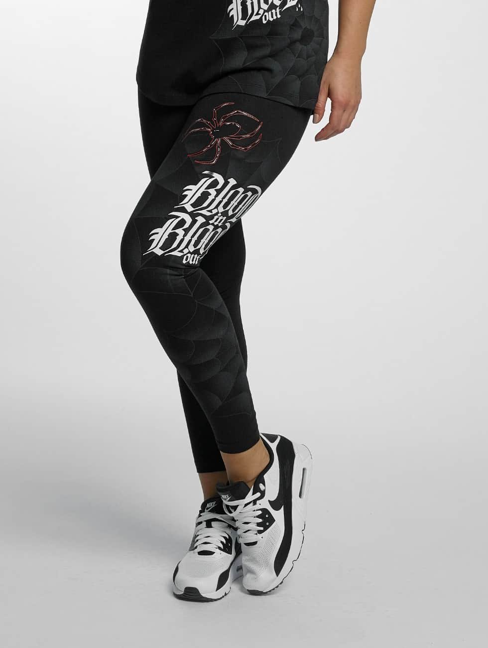 Blood In Blood Out Leggings/Treggings Ranio Negro czarny