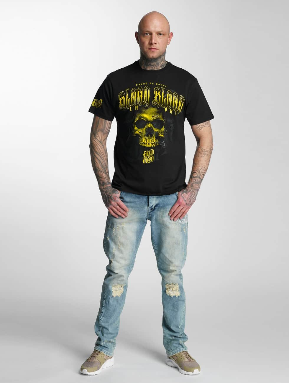Blood In Blood Out T-Shirt Yellow Honor schwarz