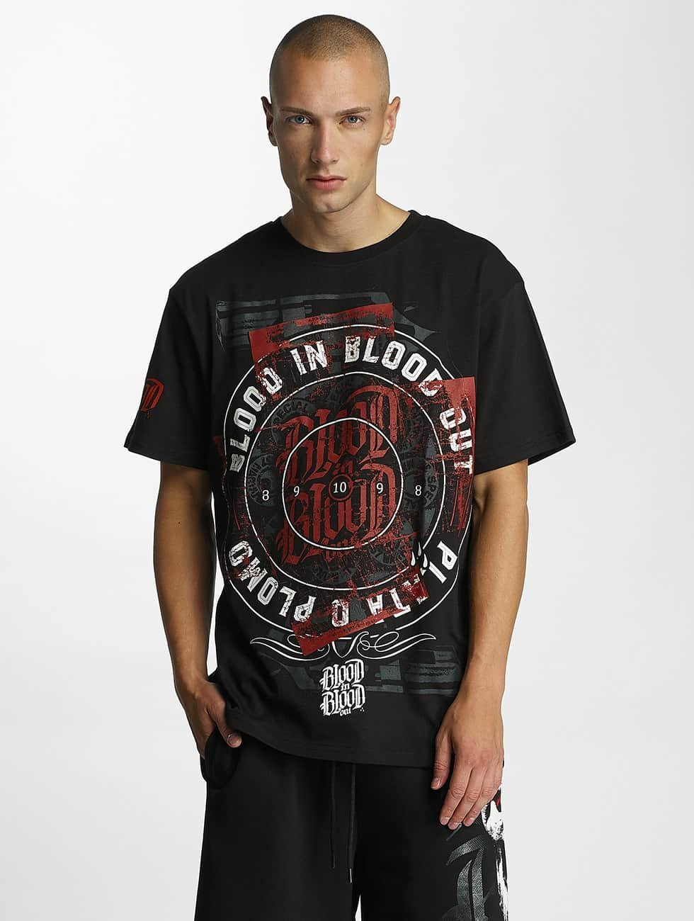 Blood In Blood Out Tričká Plata O Plomo èierna