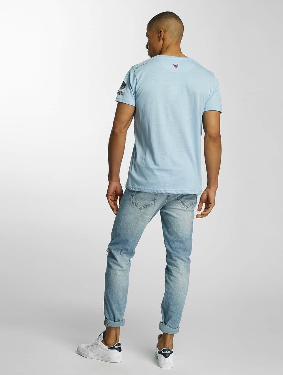 Brave Soul T-Shirt Large Crew Neck blau