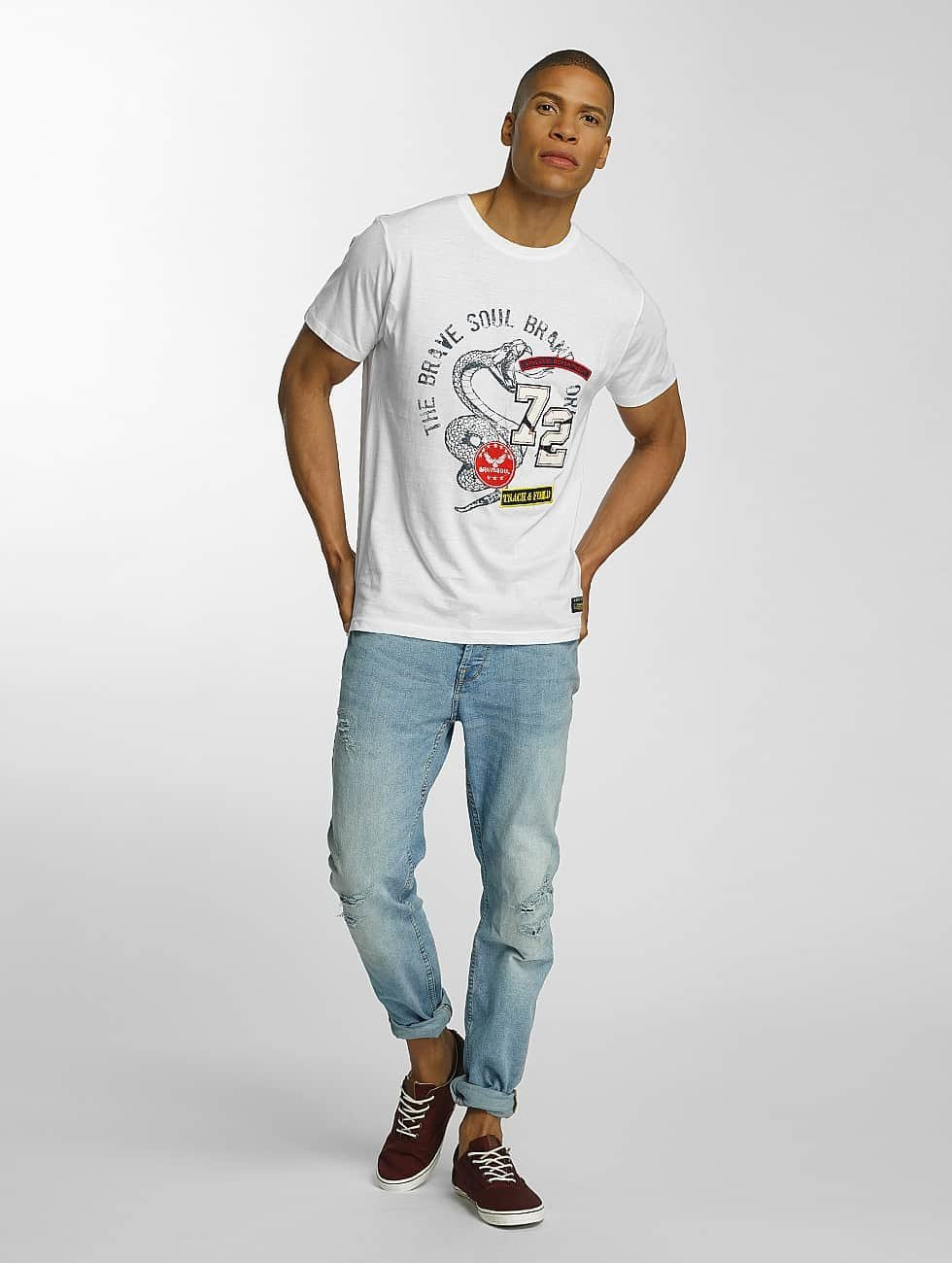 Brave Soul T-Shirt Crew Neck Set weiß