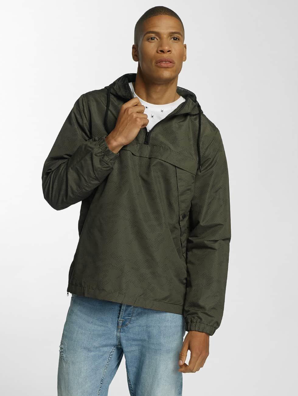 Brave Soul Transitional Jackets Print Camouflage Overhead khaki