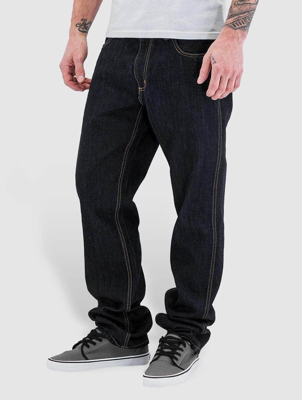 Carhartt WIP Straight Fit Jeans Hanford II Regular Fit blau