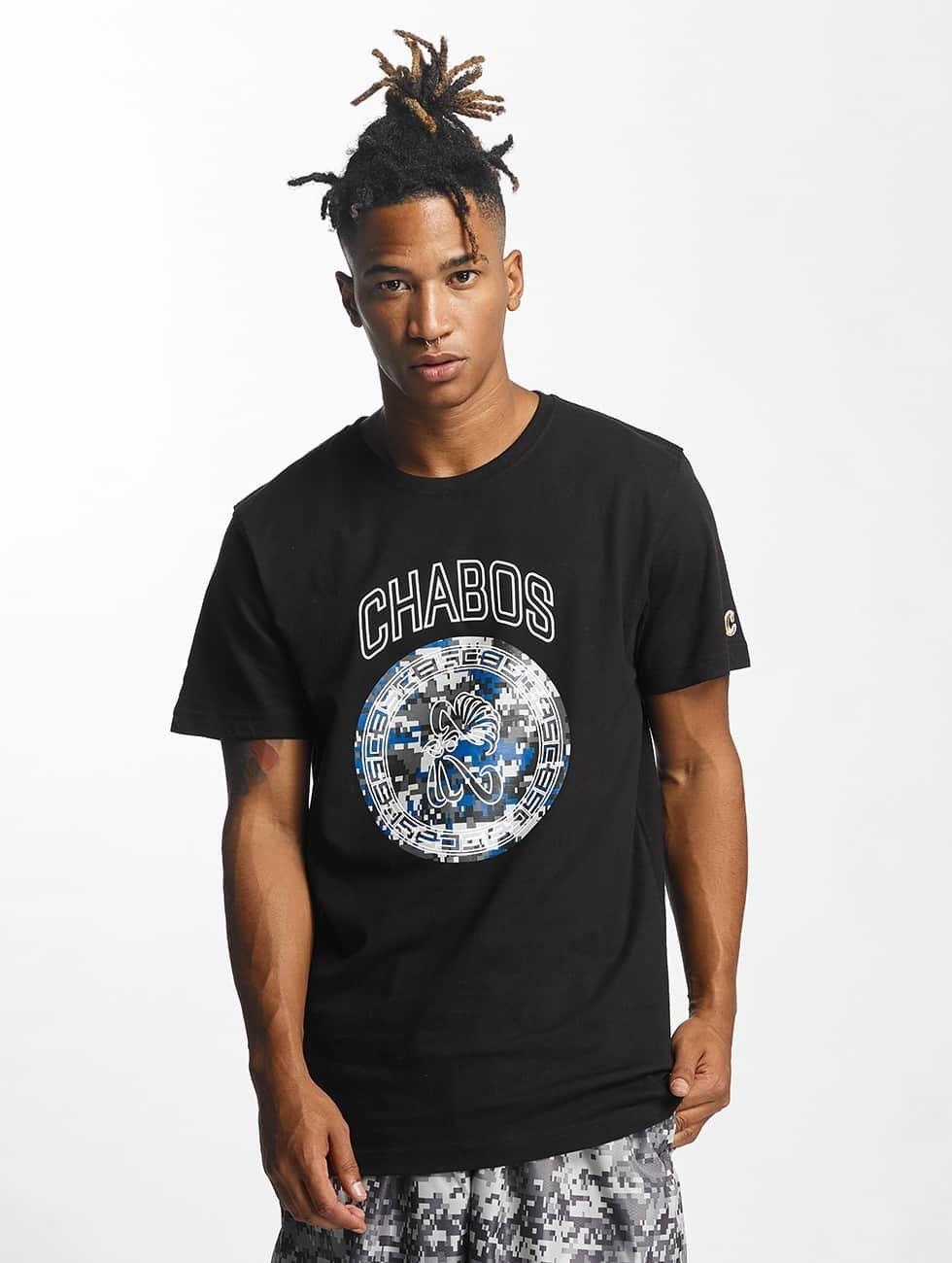 CHABOS IIVII T-shirt Camo Palazzo nero