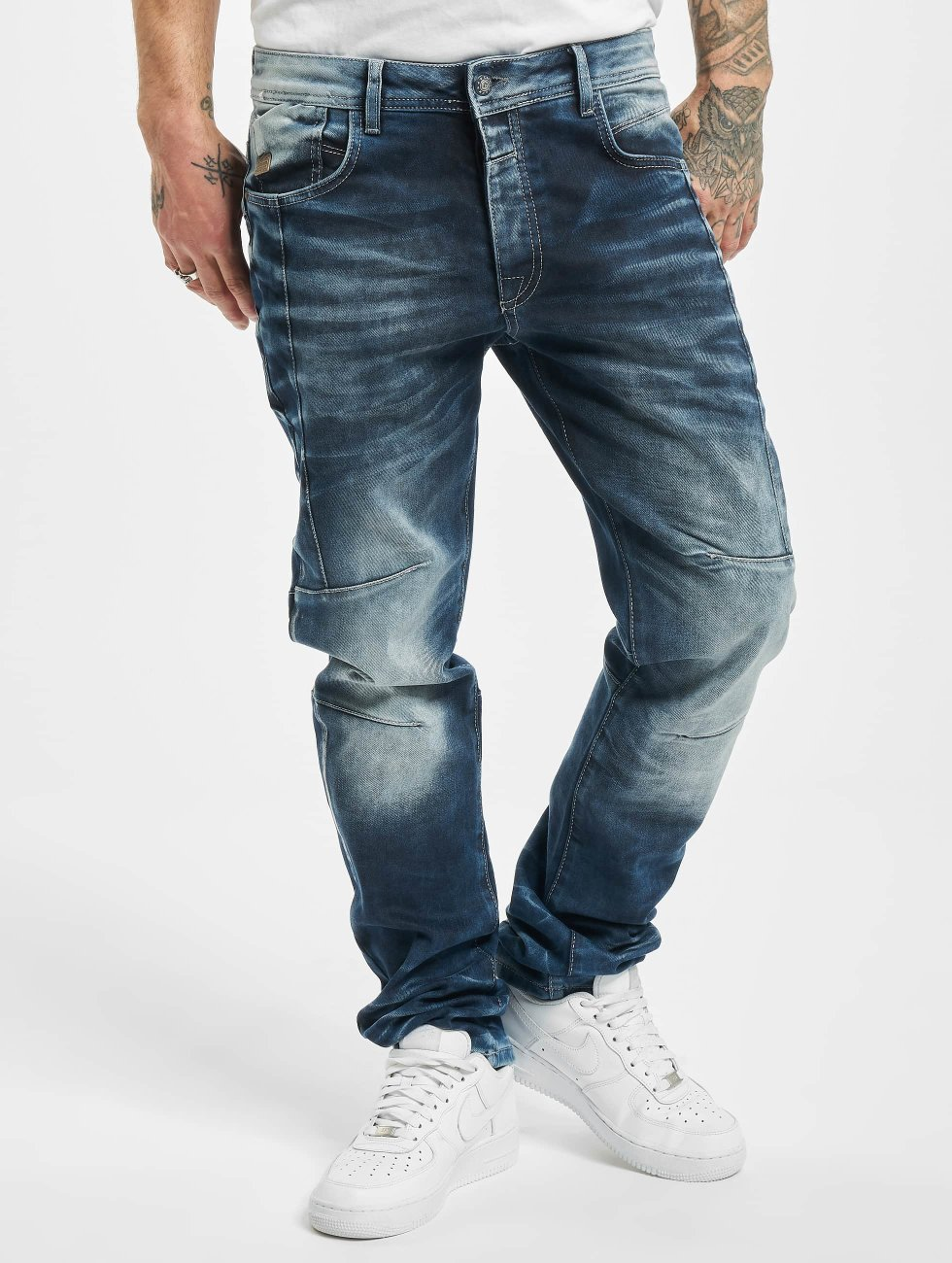 Cipo & Baxx Dżinsy straight fit Halti niebieski