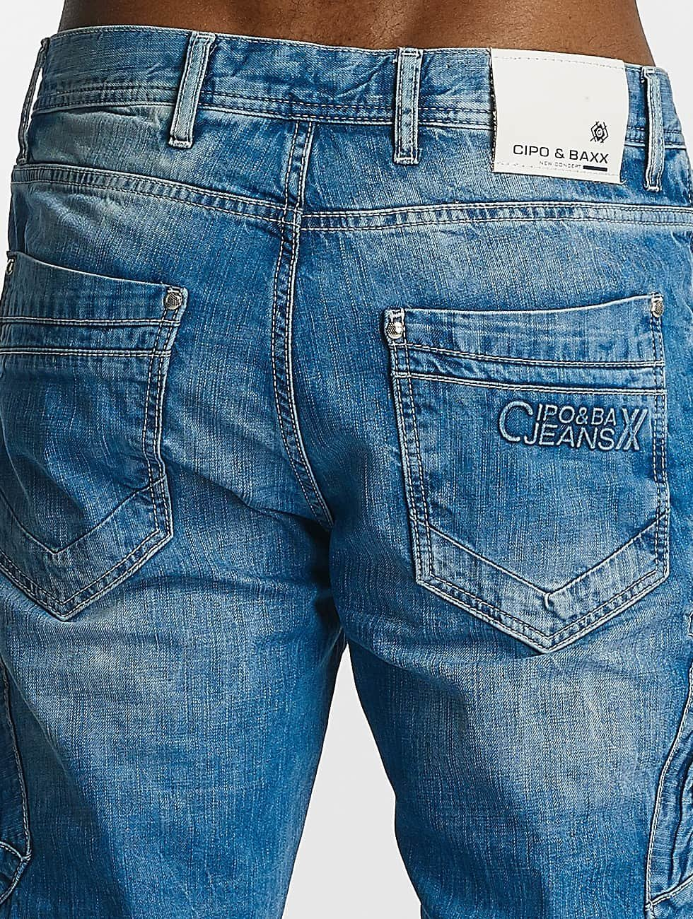 Cipo & Baxx Loose fit jeans Thomas blauw