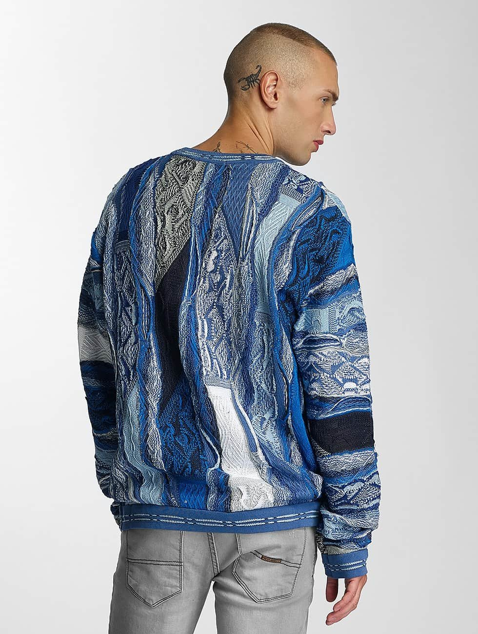 Coogi Pullover Patchwork blue
