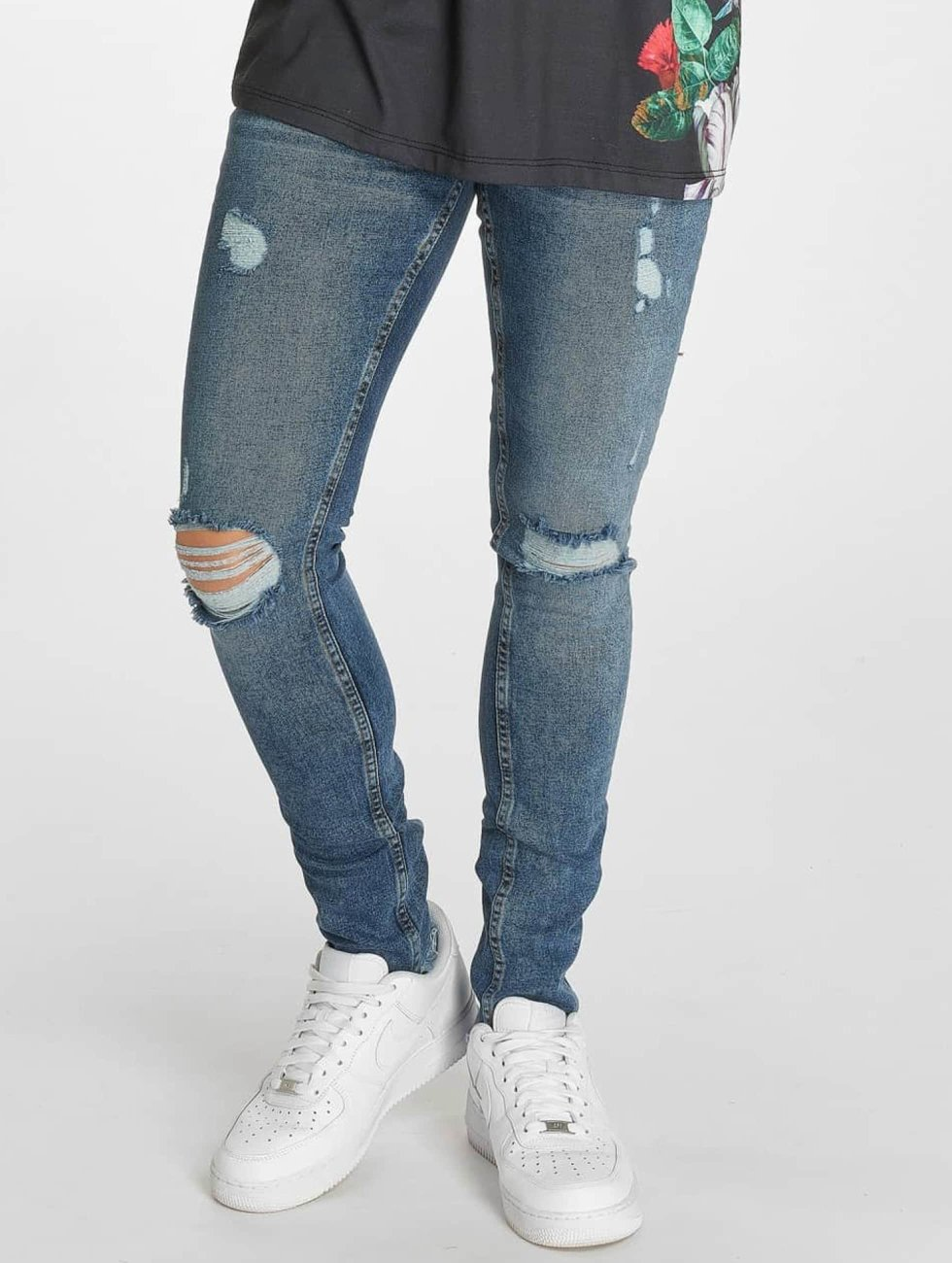 Criminal Damage Jean skinny Curtis bleu
