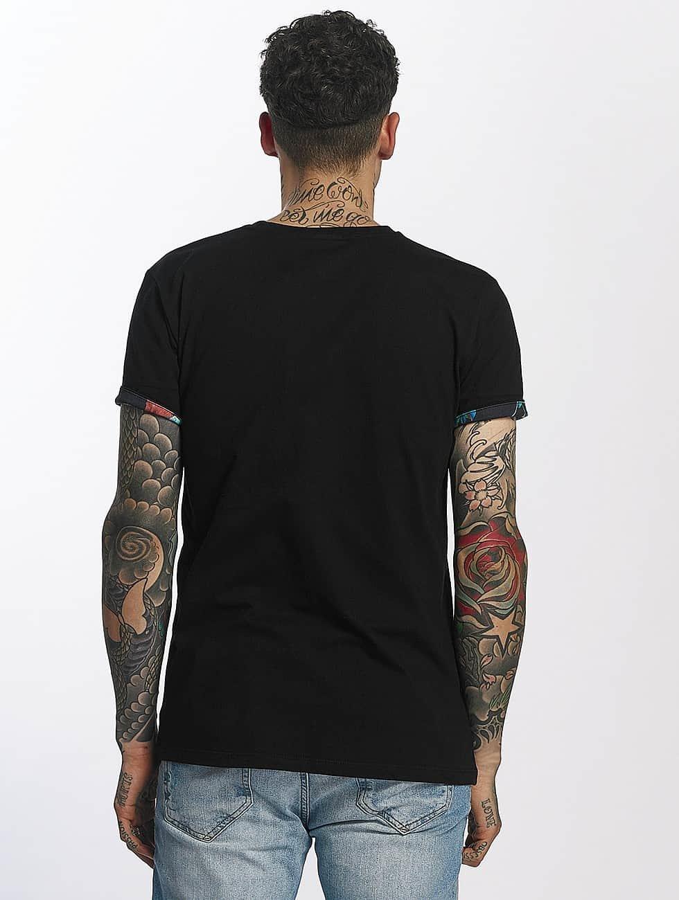 Criminal Damage T-Shirty Meadow Pocket czarny