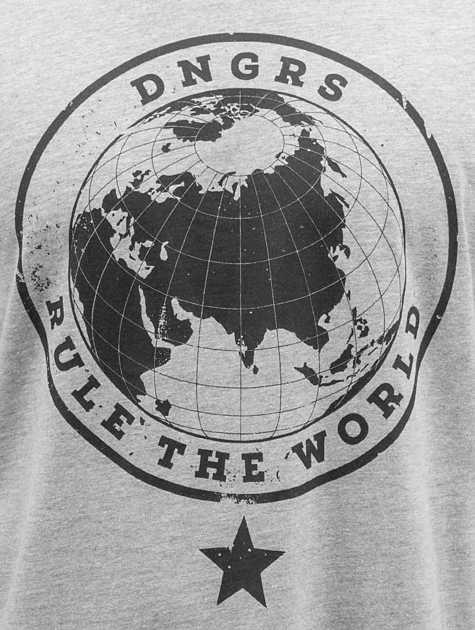 Dangerous DNGRS Longsleeve Rule The World grau