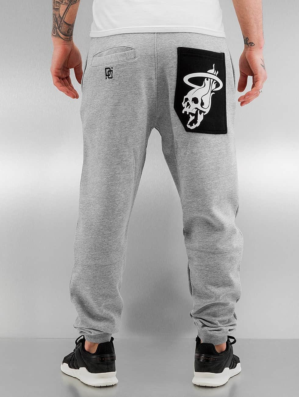 Dangerous DNGRS Sweat Pant Skullfire grey