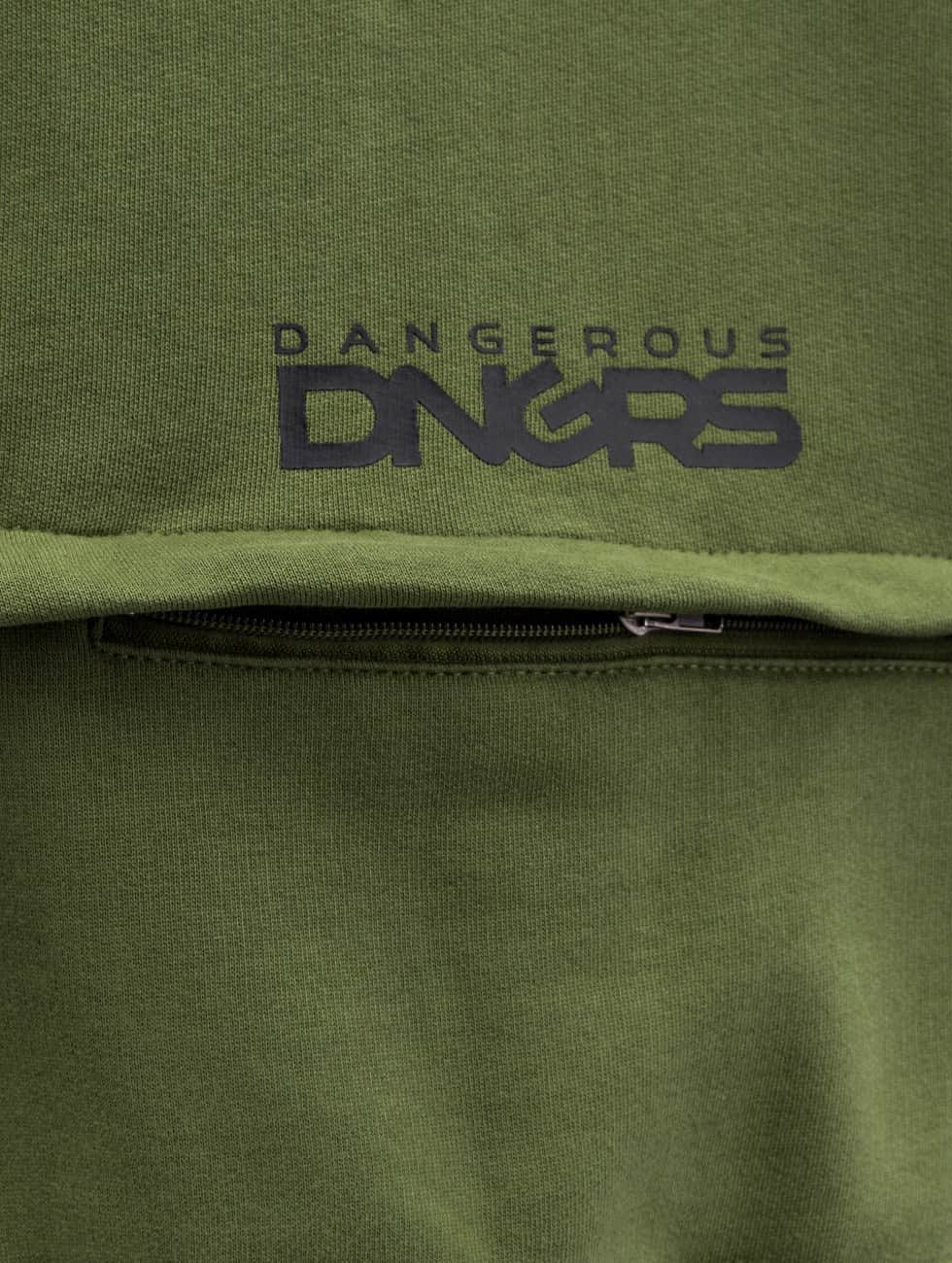Dangerous DNGRS Zip Hoodie Halil оливковый