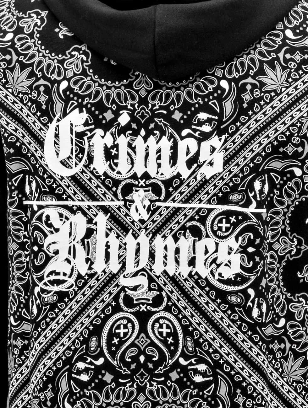 Dangerous DNGRS Zip Hoodie Crimes & Rhymes black