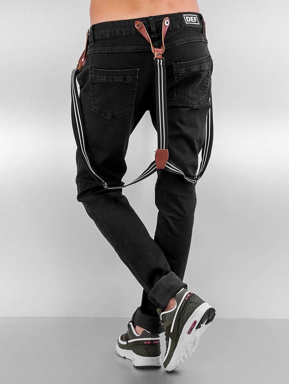 DEF Джинсы Boyfriend Suspenders II черный