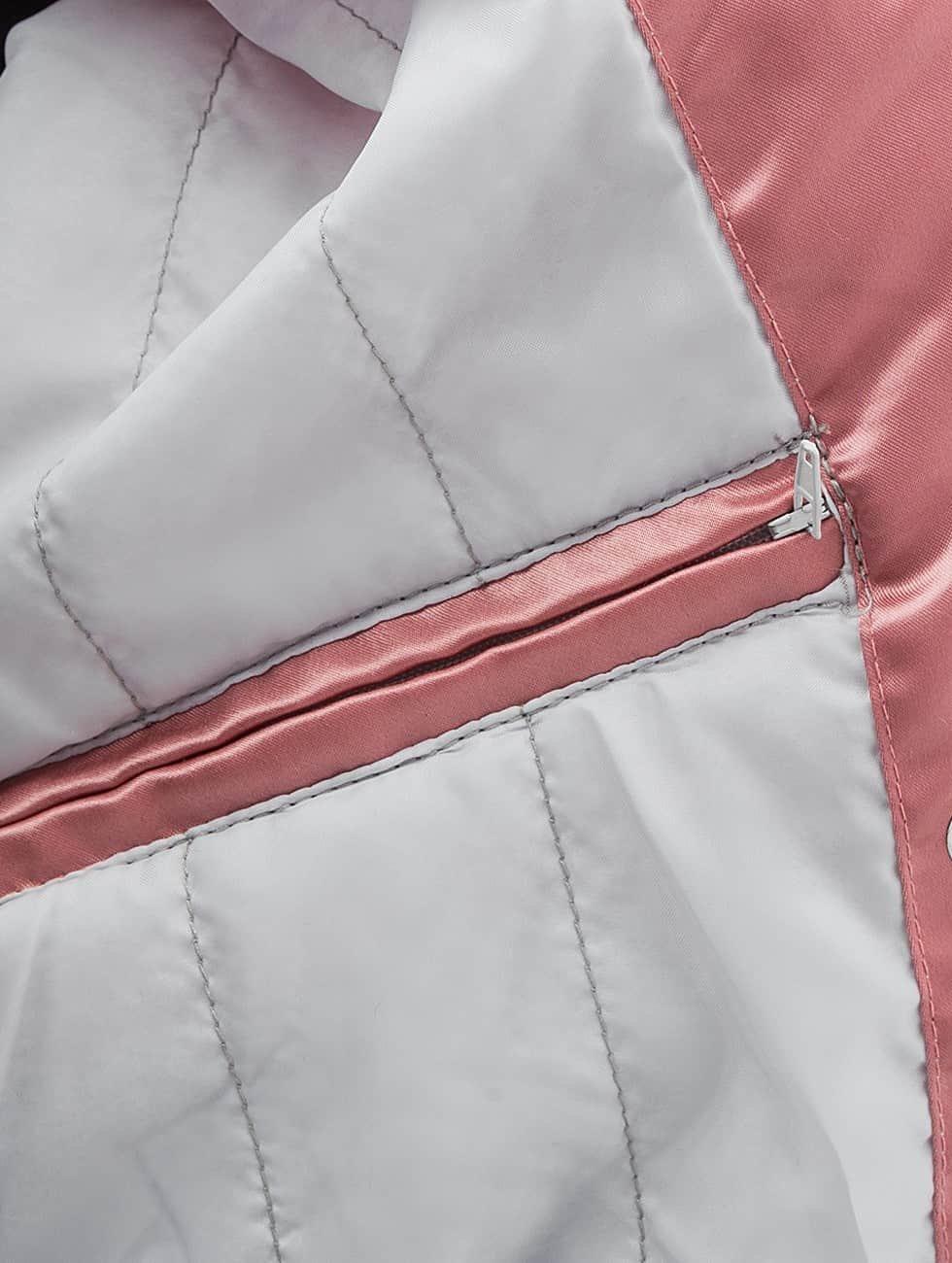 DEF Bomber jacket Fake Fur rose