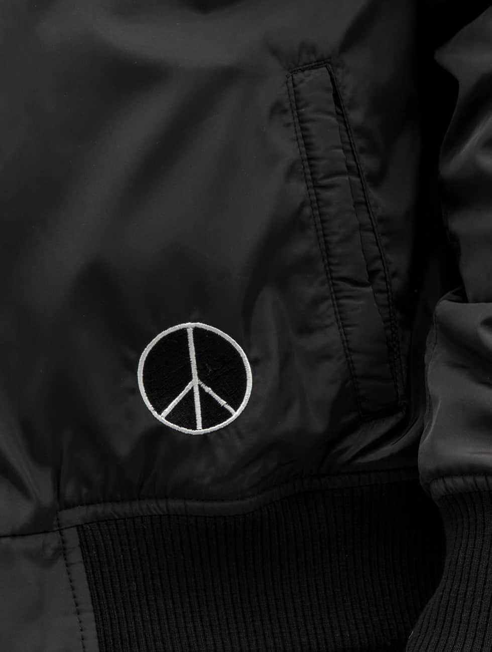 DEF Bomberová bunda Peace èierna