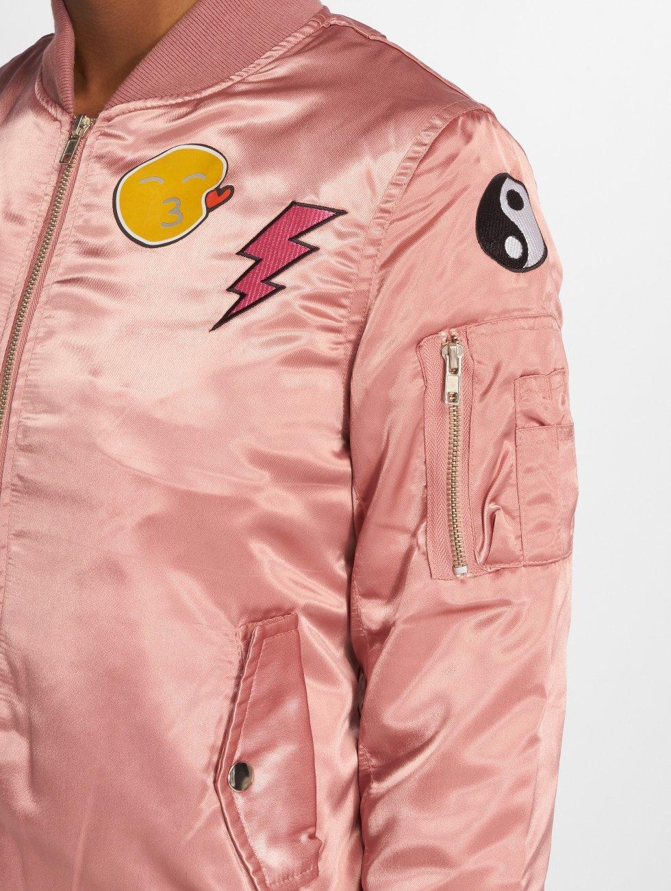 DEF Bomberová bunda Wow! ružová