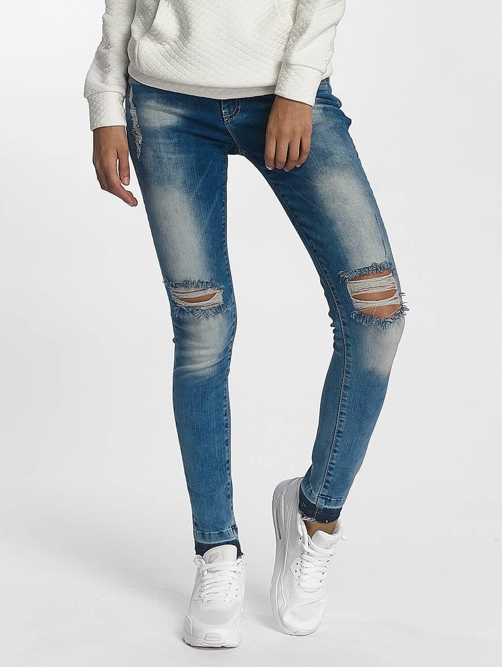 DEF Skinny Jeans Used niebieski