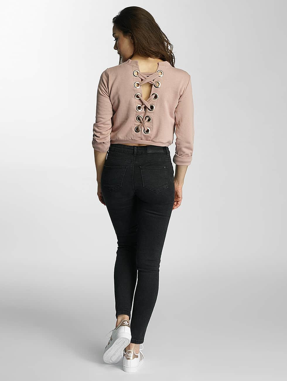 DEF Sweat & Pull Lace-up rose