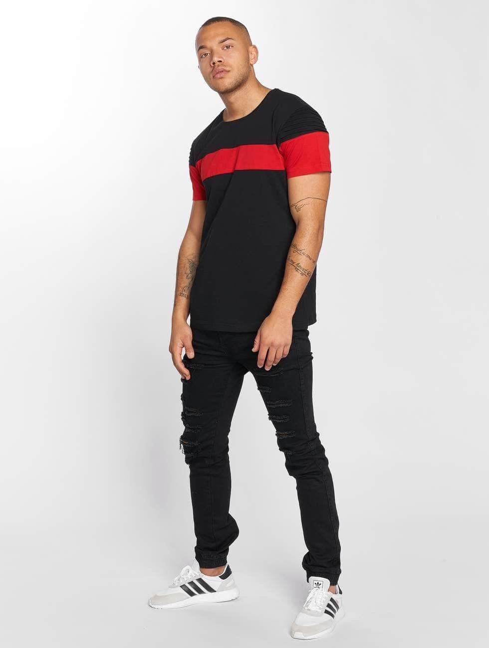 DEF T-Shirt Stripe noir
