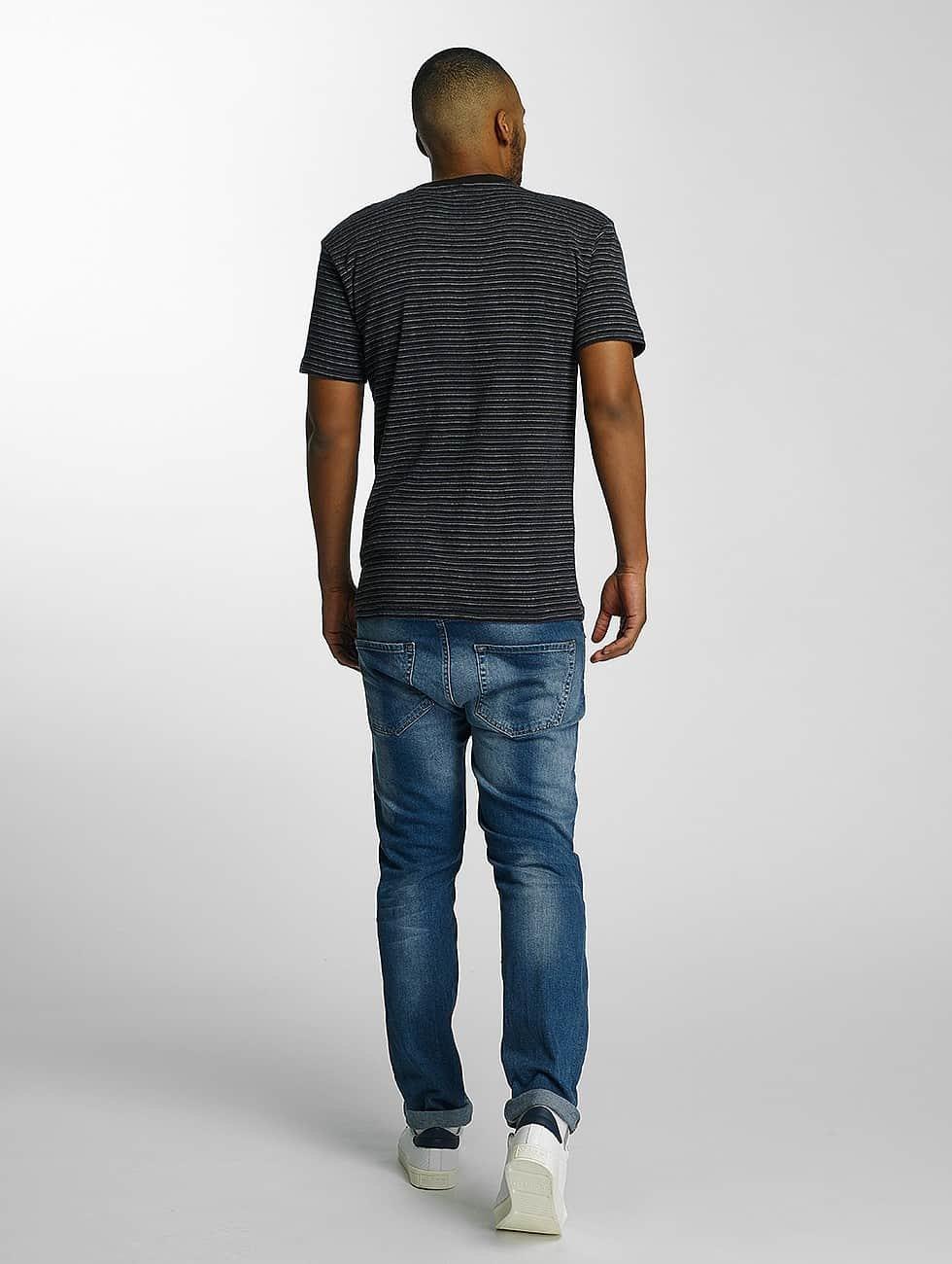DEF Tričká Stripes èierna