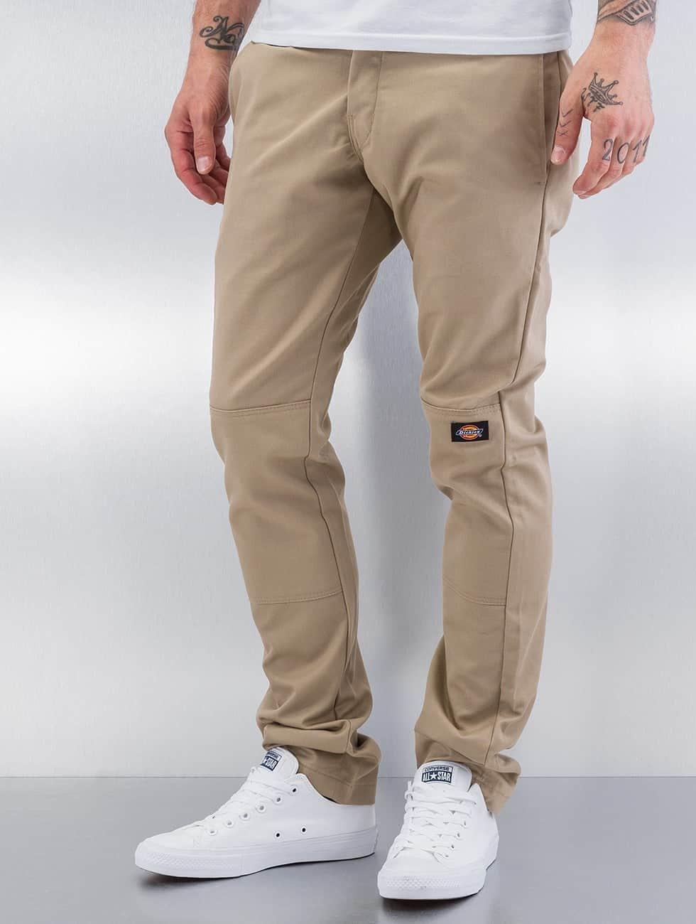 Dickies Pantalon chino Skinny Fit Double Knee beige