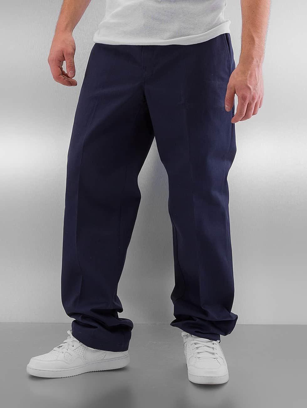 Dickies Spodnie wizytowe Slim Straight Work niebieski