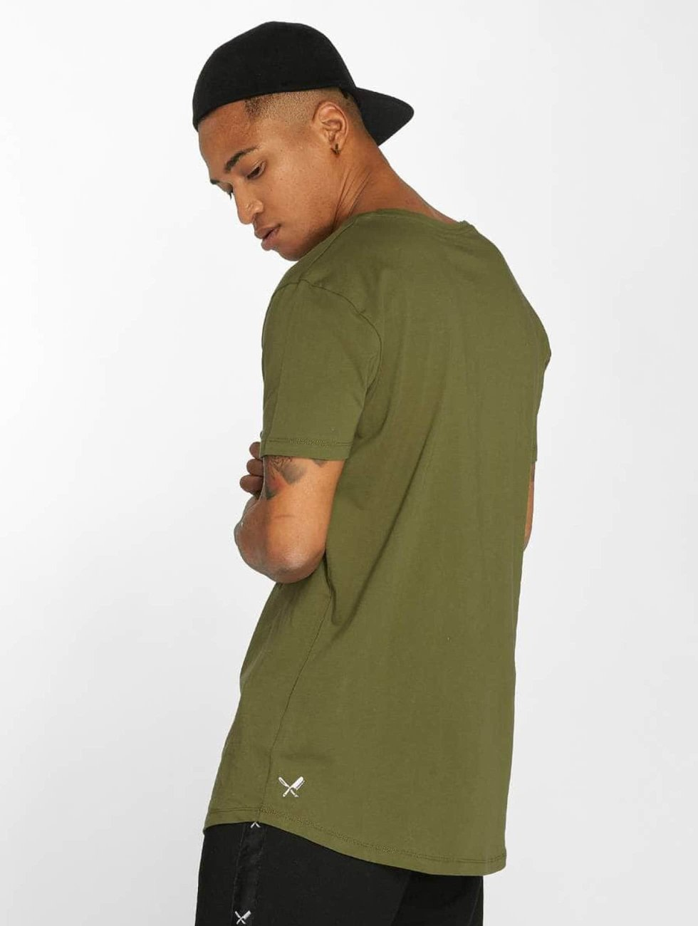 Distorted People T-Shirt BB Blades Camo olive