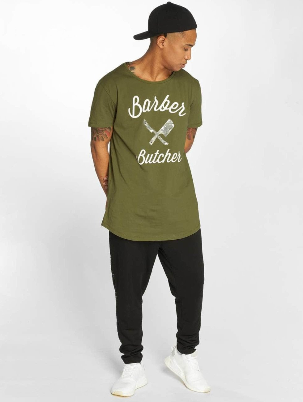 Distorted People T-shirts BB Blades Camo oliven