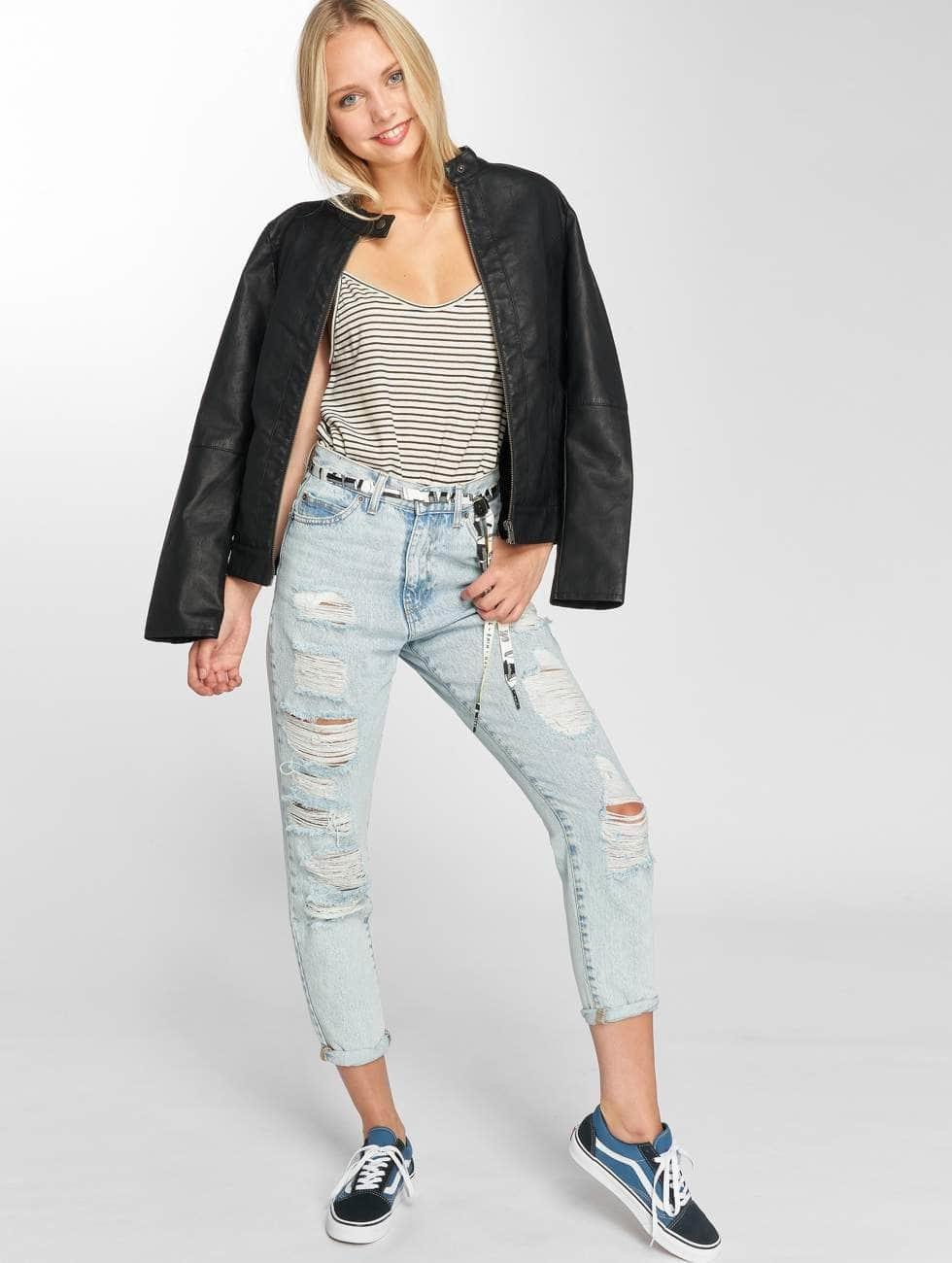 Dr. Denim High waist jeans Nora Ripped To Mom blå