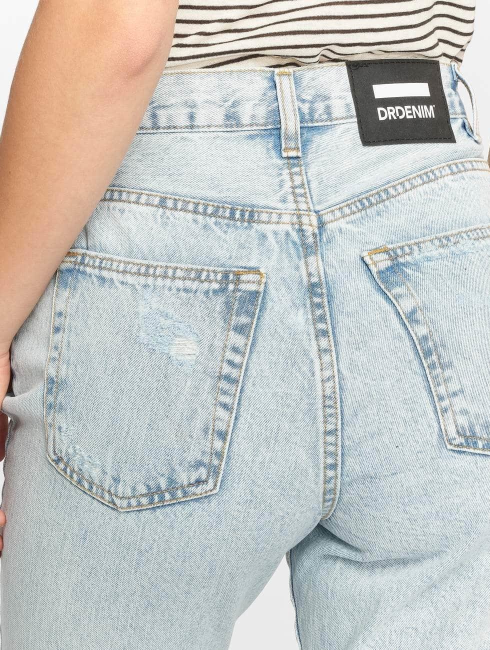 Dr. Denim Jeans de cintura alta Nora Ripped To Mom azul