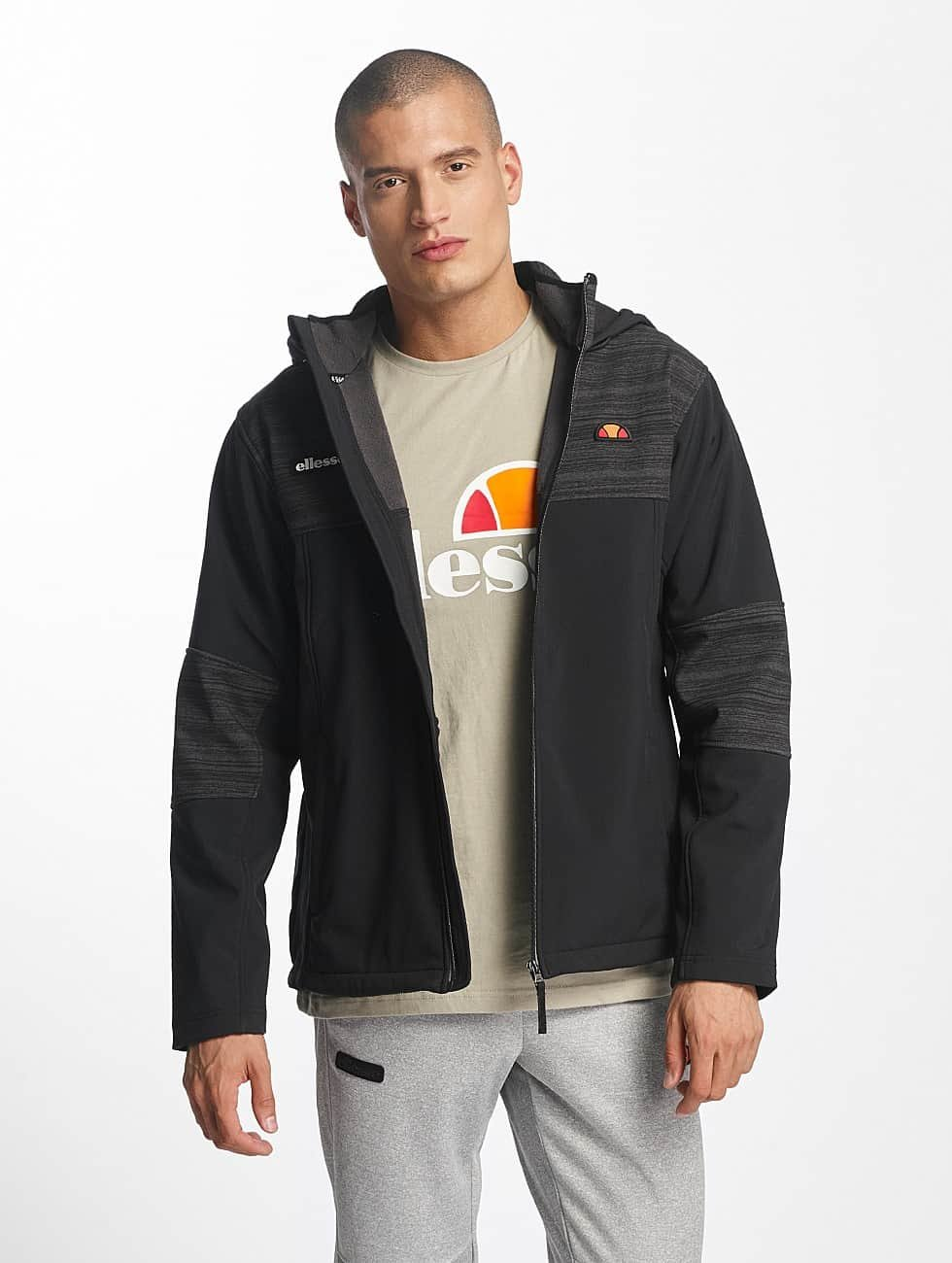 Ellesse Lightweight Jacket Sport Resistance Soft Shell black