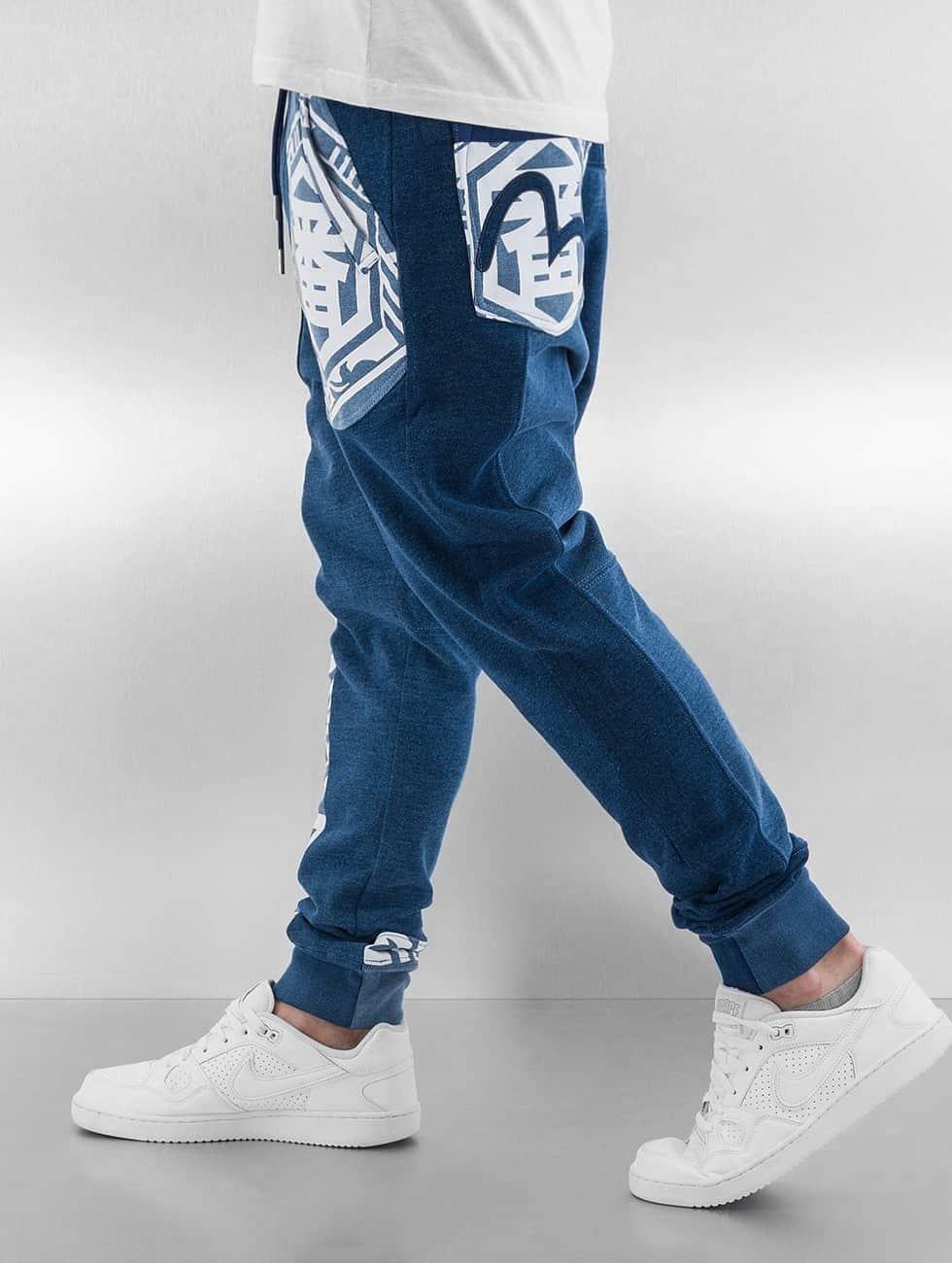 EVISU Jogginghose Ichiban blau