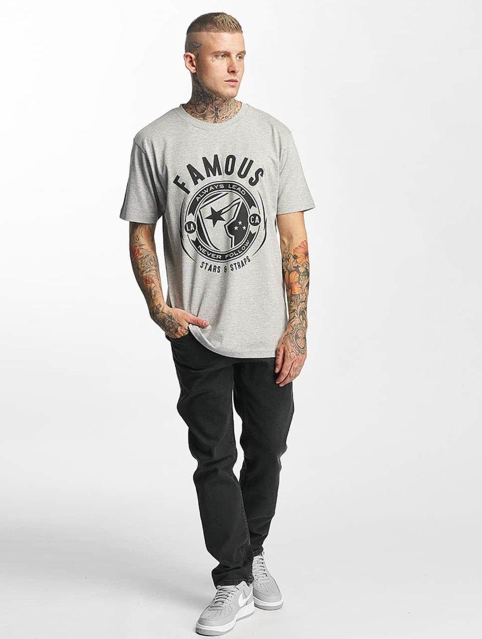 Famous Stars and Straps t-shirt Shocker grijs