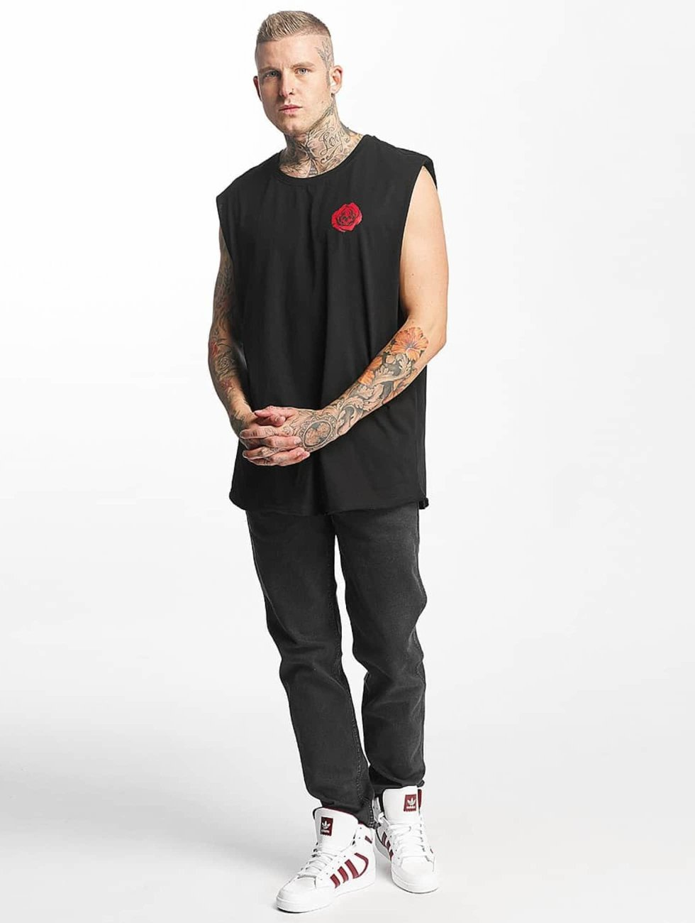 Famous Stars and Straps Tank Tops Deadrose negro