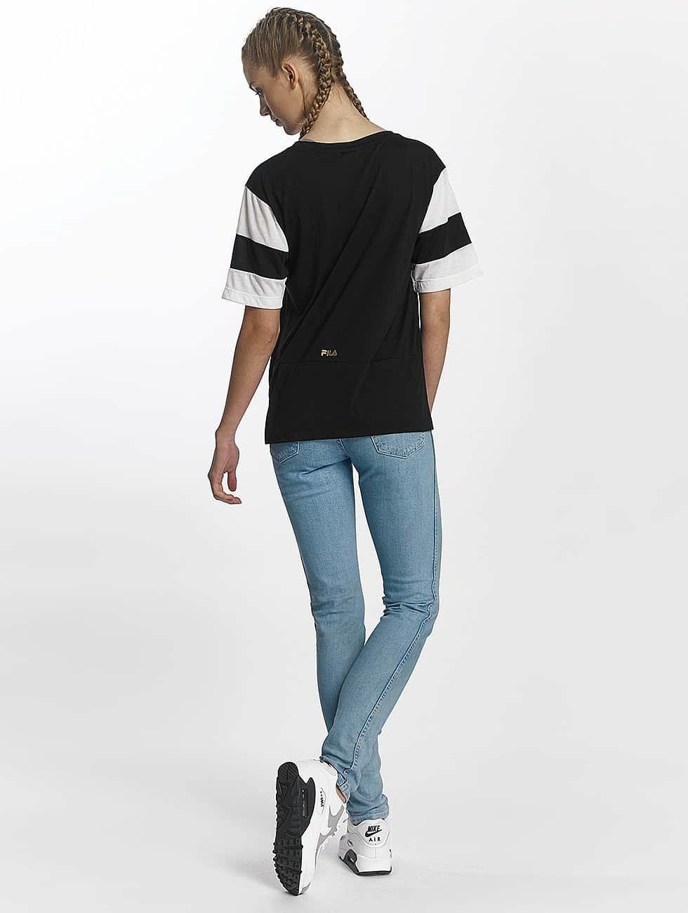 FILA t-shirt Petite Isao Blocked zwart