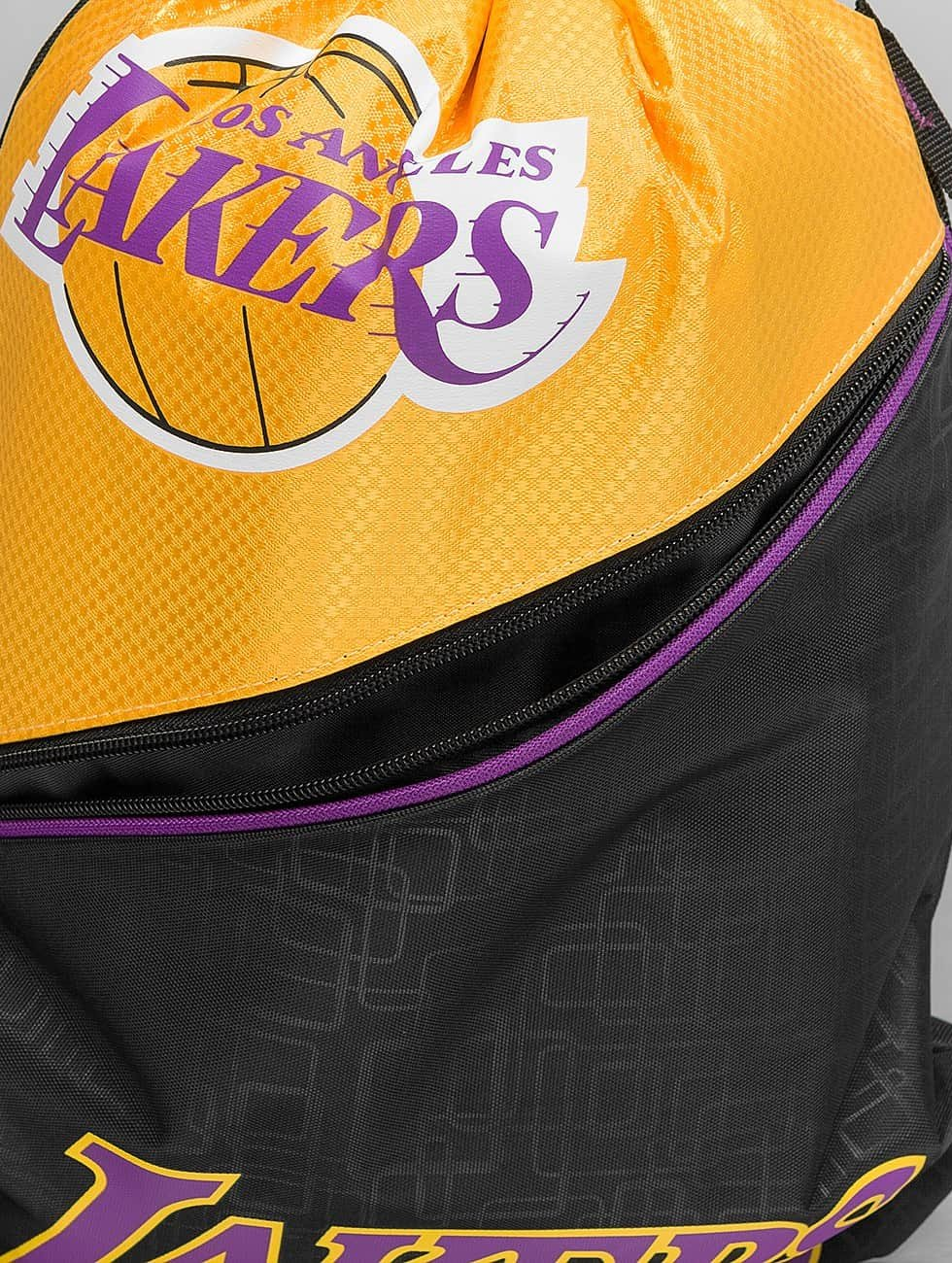 Forever Collectibles Batohy do mesta NBA Diagonal Zip Drawstring LA Lakers èierna