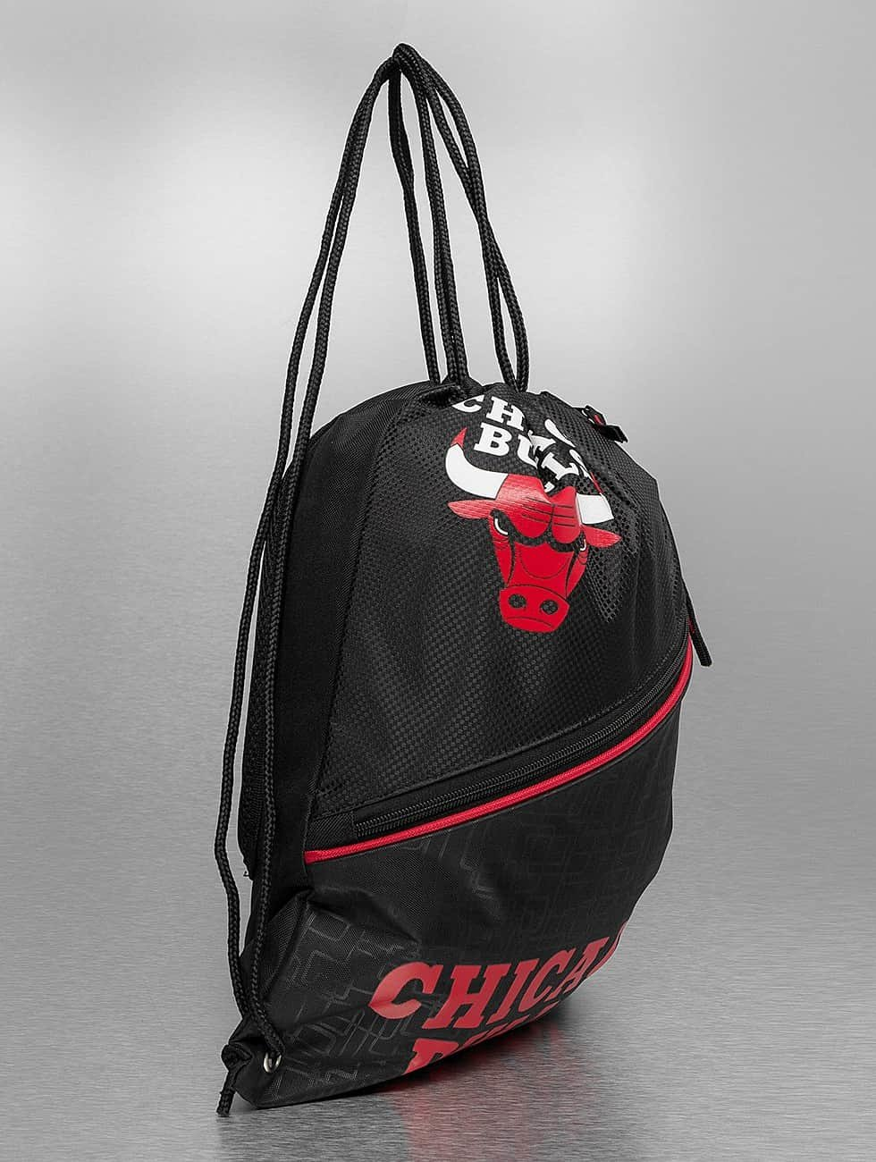 Forever Collectibles Pouch NBA Diagonal Zip Drawstring Chicago Bulls black
