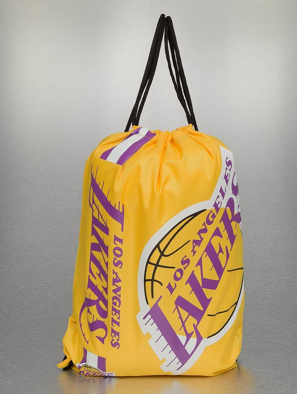 0398031d28 Forever Collectibles Los Angeles Lakers Cropped Logo Drawstring Backpack  Gym FCGBCROP05