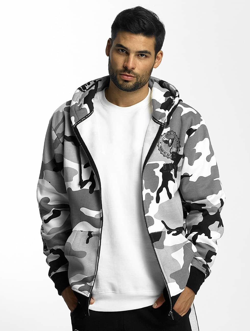 Grimey Wear Zip Hoodie Core camouflage