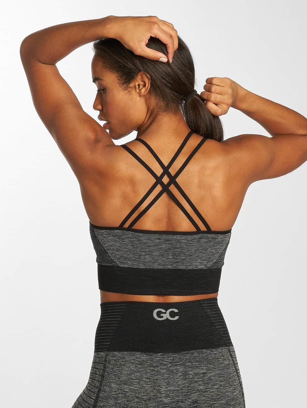 GymCodes Sports Bra Flex Cross grey