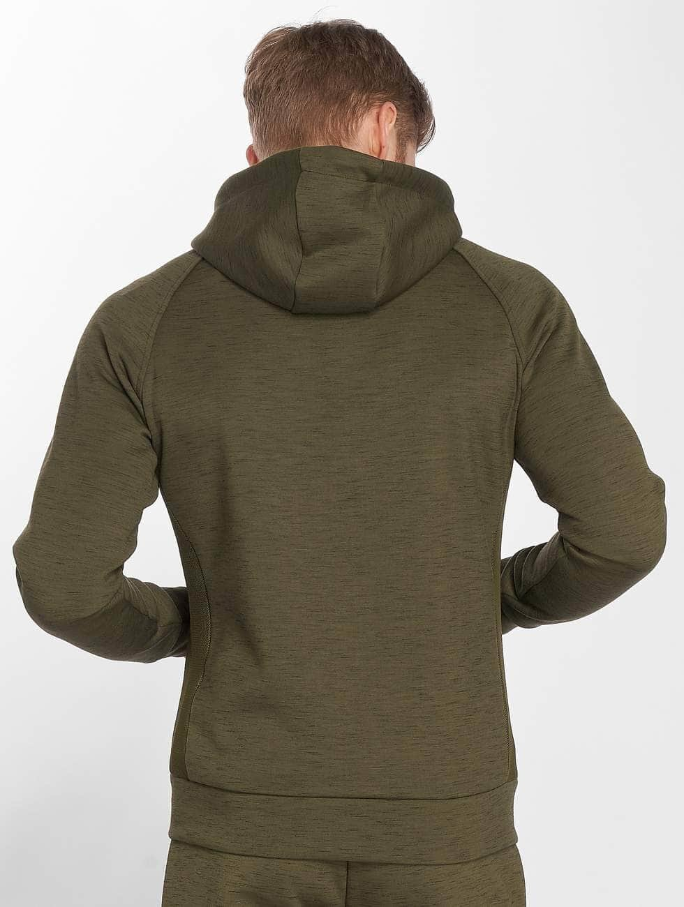 GymCodes Zip Hoodie Athletic-Fit olive