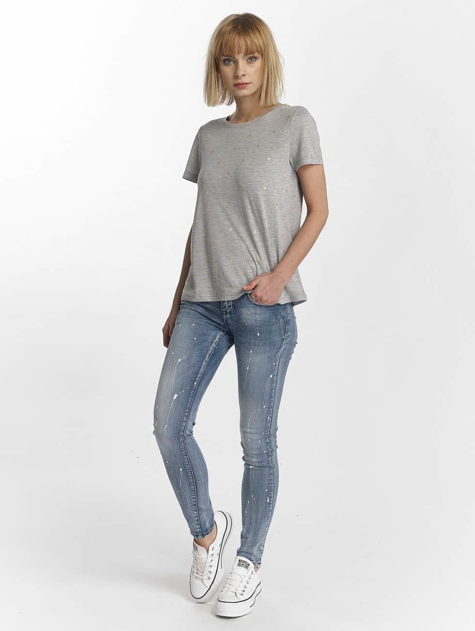 Hailys Skinny Jeans Splashy blau