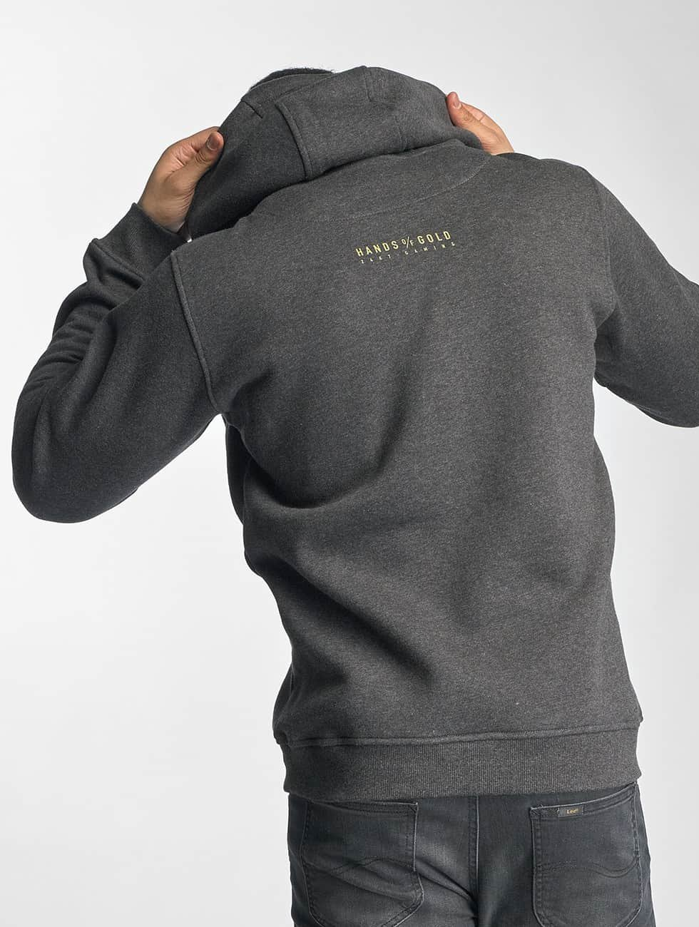 Hands of Gold Hoodie All Day grey