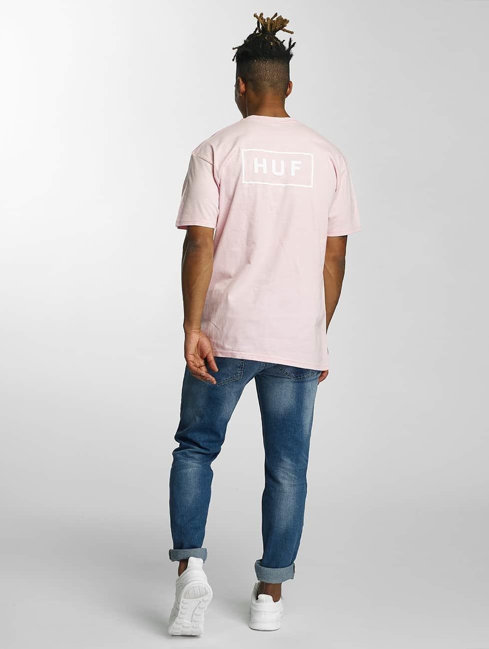 HUF Tričká Puff Bar Logo ružová