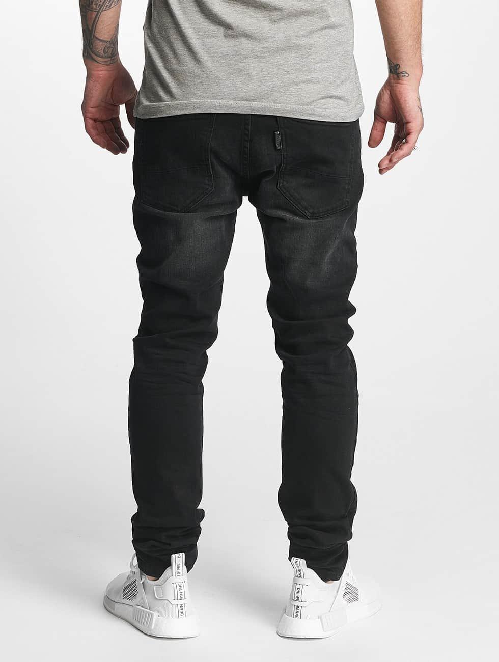 ID Denim Джинсы прямого покроя Skinny Low Rise Tapered Leg черный